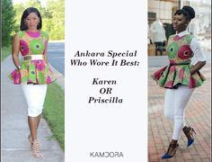 Who Wore It Best: The Prissyville Ankara Peplum Top