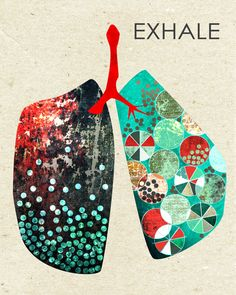 Exhale  graphic design lungs anatomy art graphic by SayHeyCrystal, $20.00