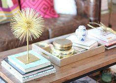 Spray Paint & Chardonnay - coffee table layout