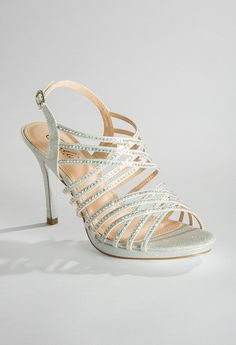 High Heel Glitter and Rhinestone Sandal from Camille La Vie and Group USA