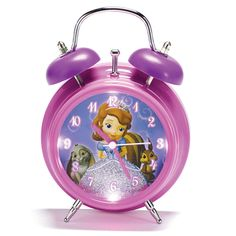 Princesses Rule! Glitter accents and LED lights make this a pretty accent for any girl's bedroom.  © Disney