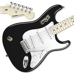 Pegatina guitarra balazos #decoracion #guitarra #electrica #fender #stratocaster #vinilo #pegatina