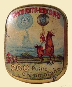 Italian gramophone needles tin