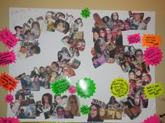 25th Birthday Picture Board...These photos were all 25 years of my beautiful…