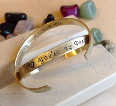 Hey, I found this really awesome Etsy listing at https://www.etsy.com/listing/222653741/quote-bracelet-custom-stamped-bracelet