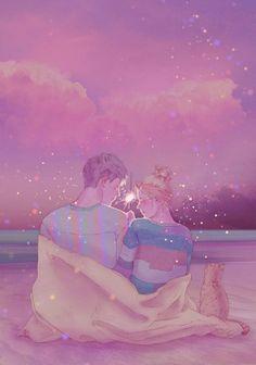 Artista cria ilustrações mostrando o lado mais puro do amor