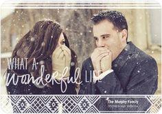 Wonderfully Cozy - Flat Holiday Photo Cards - Hallmark - White : Front