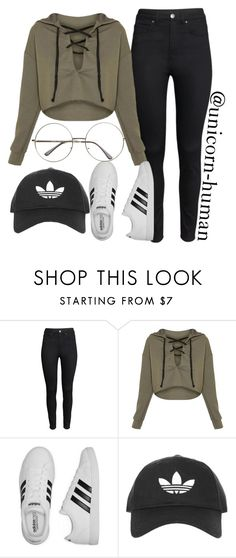 """Untitled #2696"" by unicorn-human on Polyvore featuring H&M, adidas and Topshop"