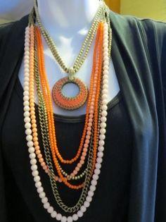 Papaya with Double Take pendant