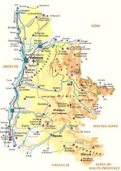 Valence, Montélimar, Romans-sur-Isère, Die, Nyons, Tain L'Hermitage, Grignan...