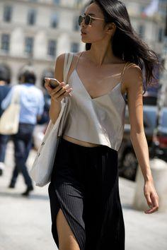 Street style: cool women at Paris Men's Fashion Week SS18 | British GQ