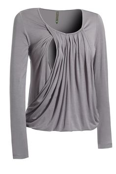 Mothers En Vogue slouchy pleated nursing top