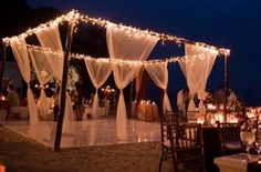 I love this idea for an outdoor wedding...my dad or someone could totally make this