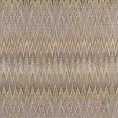 Gold, Beige And Platinum, Woven Flame Stitch Upholstery Fabric By The Yard