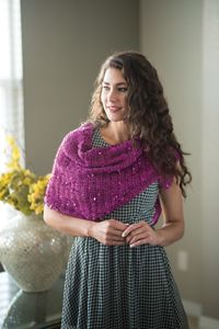 Simple Sequins Shawl - An easy #shawl pattern with a bit of sparkle from Love of #crochet magazine