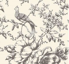 Victorian leaves and birds wallpaper - Google Search