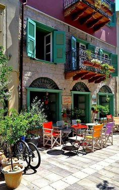 "Colors and Architecture of Nauplion City Peloponnese Greece ""And #Macedonia, of course, is a part of Greece."" (Strab. VII, Frg. 9 [Loeb, H.L. Jones]) #design #travel #photography"