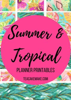 If you are looking to jazz up your planner with gorgeous summer and tropical printable stickers, here is a selection of my absolute favourites!