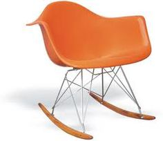 Orange Eames rocker