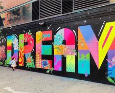 Where is your inner child? Do you walk down the street looking up, wide eyed, soaking in the… Graffiti Murals, Street Art Graffiti, Mural Art, Techno, Corporate Event Design, Where Did It Go, Street Installation, School Murals, Street Artists