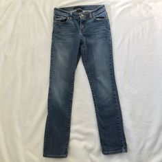 Levis Mid Rise Skinny Jean Classic Wash Levis original mid rise skinny jean. 97% cotton, 3% elastic. A little on the shorter side and have a little more room at the bottom than a typical skinny jean. More like a straight leg IMO. Levi's Jeans