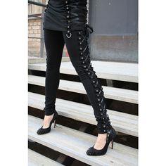 Vixxsin Corset Leggings | Gothic Clothing | Emo clothing | Alternative clothing | Punk clothing - Chaotic Clothing ($43) found on Polyvore