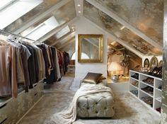 ankleidezimmer dachschräge wohnung einrichtungsideen