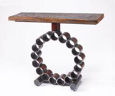 Aufgearbeiteten Holz & Konsole Metalltisch der von ShopGatski