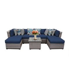 Florence 7 Piece Sectional Seating Group with Cushion with Price : $ 1239.99