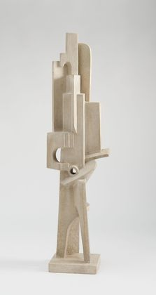 Jacques Lipchitz  - Man with a Guitar, 1915. Lipchitz's first purely Cubist sculptures were executed in 1915–16; they represent the most abstract phase of his development.  (See more of Lipchitz's work in my Early Modern Sculpture board.)