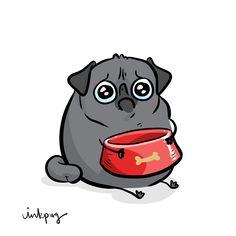 "cute pug puppies Little black pug pugmojis for every mood! Fawn version here: Brindle version here: ""Pugmojis (black pugs)"" "" refrigerator magnets or p Cute Pug Puppies, Black Pug Puppies, Cute Pugs, Funny Pugs, Pug Accessories, Pug Illustration, Pug Tattoo, Pug Art, Le Diner"
