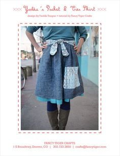 Adorable sewn skirt pattern from one of my favorite knitting designers, Ysolda!