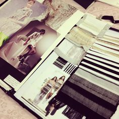 Fashion Textiles Sketchbook - student portfolio of knit and weave projects with samples and visual research; fashion design & development