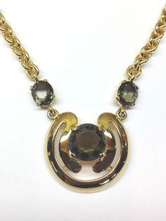 Crown Trifari hired master designer Aldo Cipullo to do this amazing modern necklace and pendant