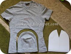 Wyłuskując resztki wolnego czasu…: tutorial - My CMS Hat Patterns To Sew, Dress Sewing Patterns, Fashion Sewing, Diy Fashion, Old Sweater Crafts, Sewing Hacks, Sewing Projects, Sewing Aprons, Clothing Hacks