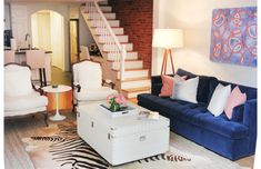 Living Room in Erin Gates' South End Home