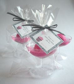 PURCHASED!  Wedding favor fun - in red and white, with vintage tags.  WHEE! -- 15 Cocktails and Cupcakes Glycerin Soap Party Favors