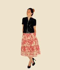 Jacket by Anna Stevar Arttrois, Skirt by S.B., Shoes by Dior