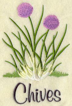 Flour Sack Towel - Kitchen Herbs Embroidery Design. $10.50, via Etsy.