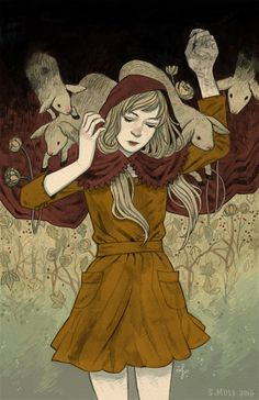 Maiden with Lambs by Sam Moss