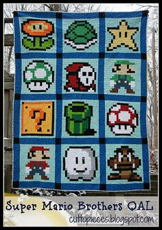 Free Pattern Friday – Super Mario Quilt Along |