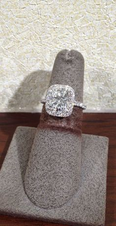 1stdibs | Beautiful GIA 3.01 ct Cushion Cut Diamond Halo Engagement Ring