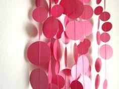 Raspberry Pink Garland  Party Garland  Wedding by ArtsDelight, $20.00