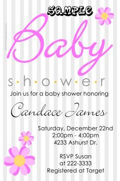 Baby Shower Invitations ANY COLOR SCHEME  -  Get these invitations RIGHT NOW. Design yourself online, download and print IMMEDIATELY! Or choose my printing services. No software download is required. Free to try!