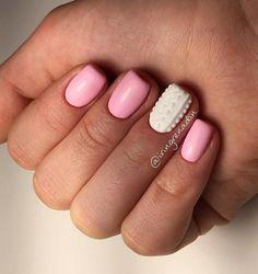 Accurate nails, Festive nails, Nail designs for short nails, Nails ideas 2016, Nails trends 2016, New Year nails 2017, Original nails, ring finger nails