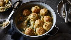 This wholesome warming one-pot vegetarian casserole is perfect for cold January nights. It's full of beans, celeriac and topped with fluffy dumplings. One Pot Vegetarian, Vegetarian Casserole, Vegetable Casserole, Vegetarian Recipes, Healthy Recipes, Casserole Dishes, Casserole Recipes, Winter Stew Recipe, Stew And Dumplings