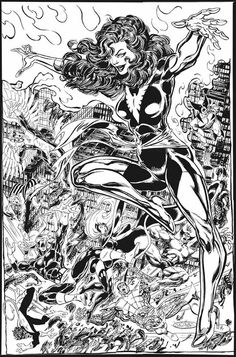 Dark Phoenix vs The X-Men commission by John Byrne from 2002.