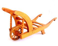 "doll size wood vintage plant cart lounger moving wheel rolling wheel 16"" x 5.5"" in Dolls & Bears, Dolls, Furniture 