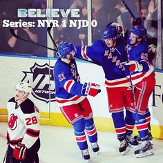 The Rangers shut out the Devils 3-0 to take a 1-0 Series lead!