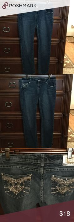 Montana Jeans The jeans are skinny with jewel back pockets junior size 11/ 12 Montana Jeans Skinny